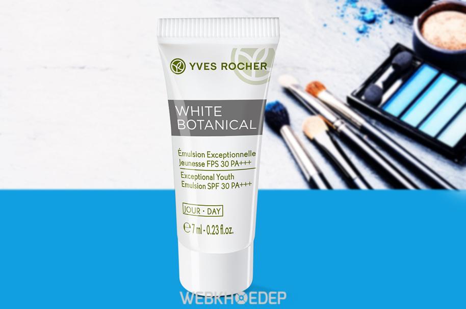 Sản phẩm dưỡng da ban ngày Yves rocher Mini White Botanical Exceptional Youth Emulsion FPS 30 PA+++