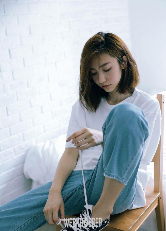 Tóc ngắn ngang vai phong cách Hàn Quốc