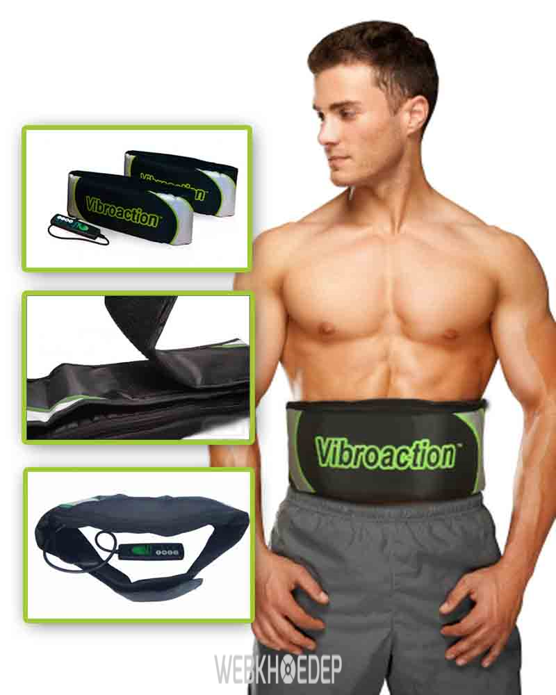 Đai massage thon gọn bụng hiệu quả Vibroaction