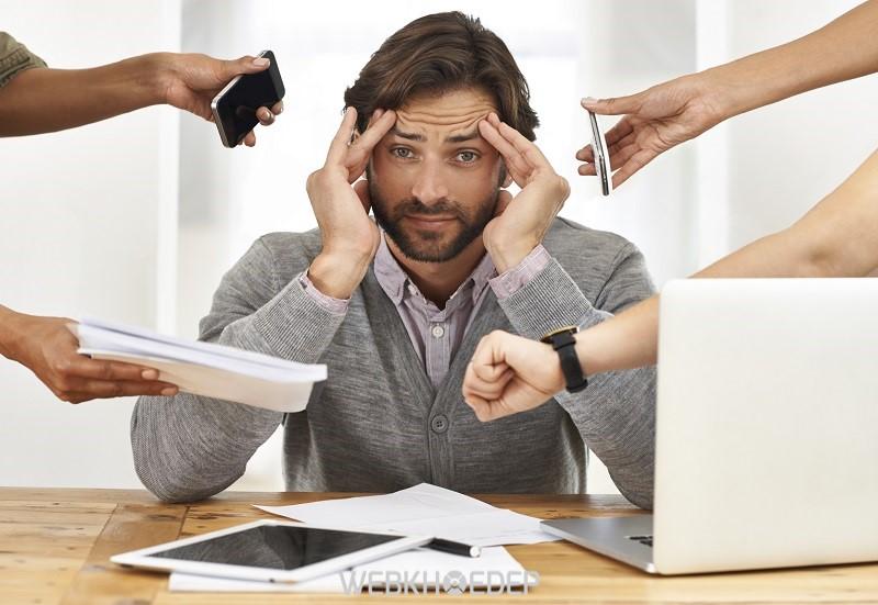 Stress khiến người bệnh dễ chán nản, sinh ra tâm lý muốn bỏ việc