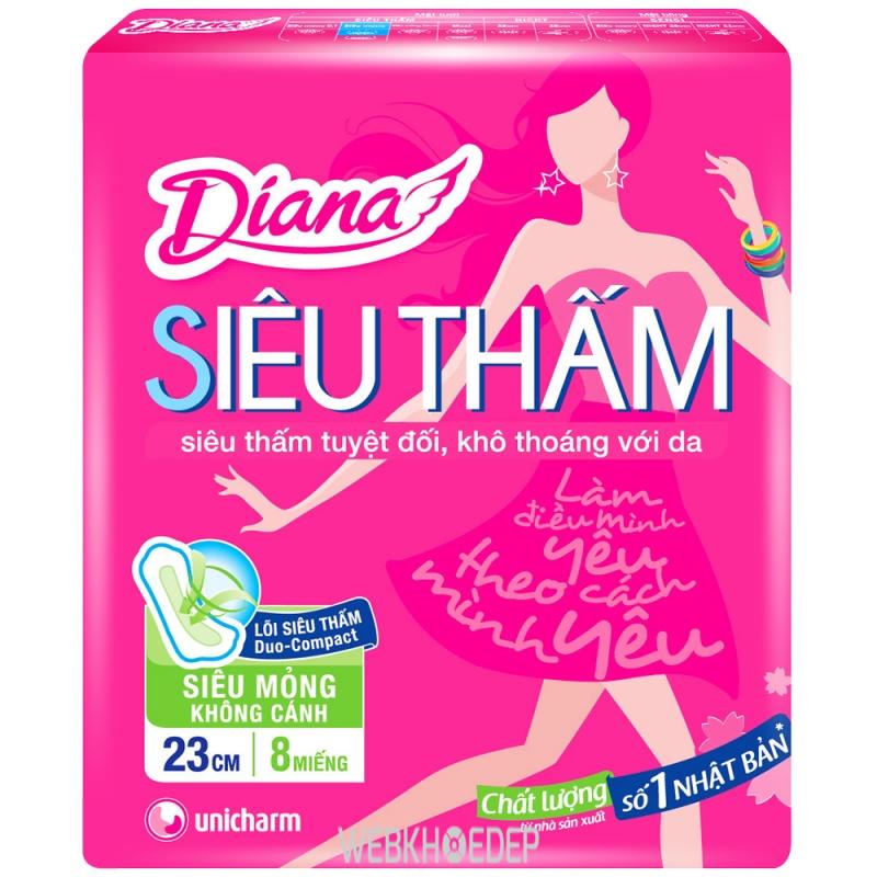 Băng vệ sinh của hãng Diana