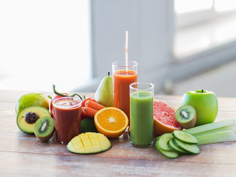 Nước ép hoa quả tươi - Thức uống giảm căng thẳng, stress tại nhà