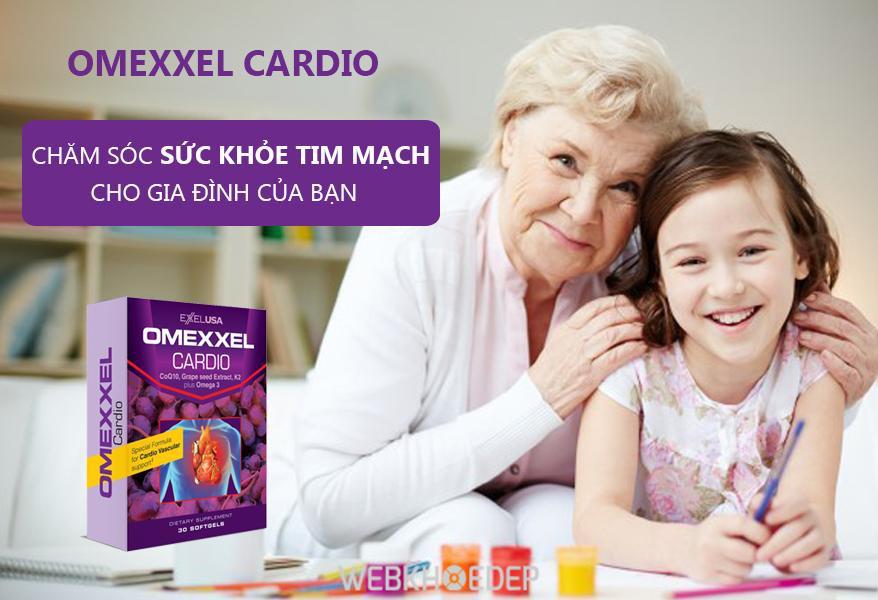 Sản phẩm hỗ trợ tim mạch Omexxel Cardio tốt cho những người bệnh tim mạch
