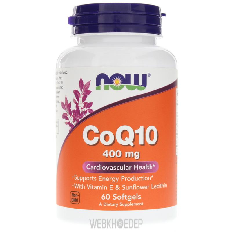 Sản phẩm CoQ10 của NOW giúp điều hòa tim mạch