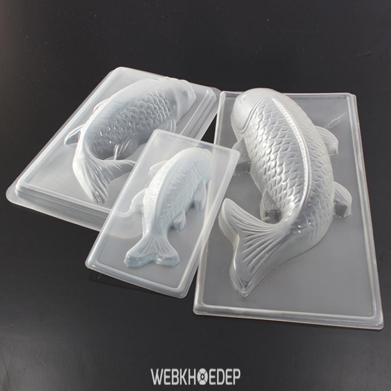 Khuôn bánh hình cá chép bằng nhựa