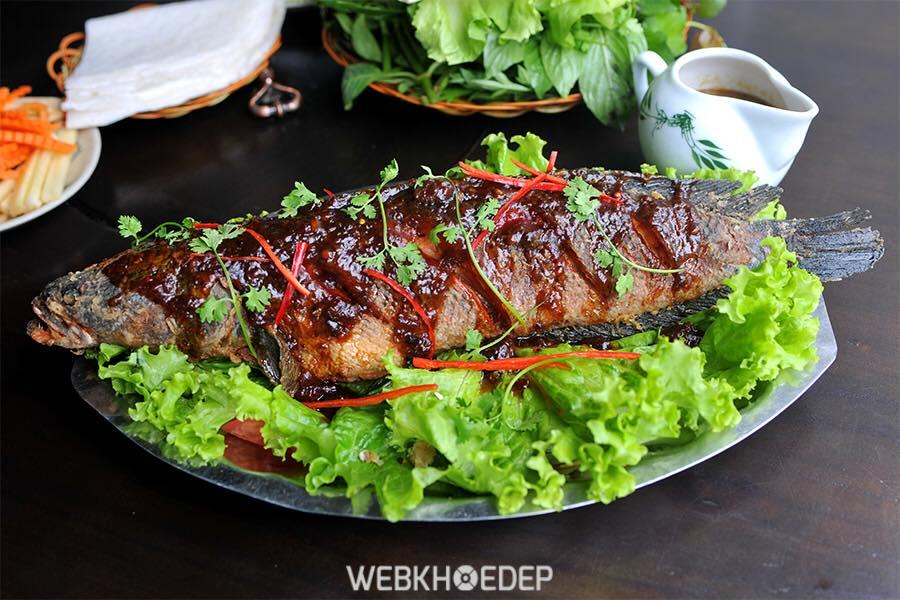 Món cá lóc nướng bằng lò hấp dẫn và đẹp mắt