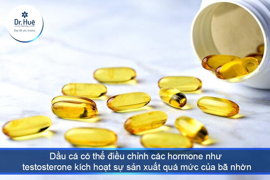 Bổ sung dầu cá Omega 3 có thể giúp trị mụn trứng cá?
