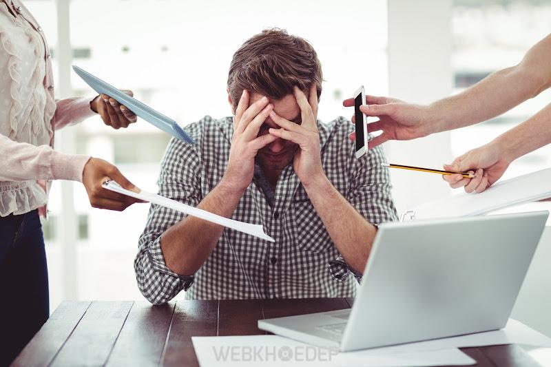 Hiệu suất công việc suy giảm dễ khiến bạn lâm vào trạng thái stress
