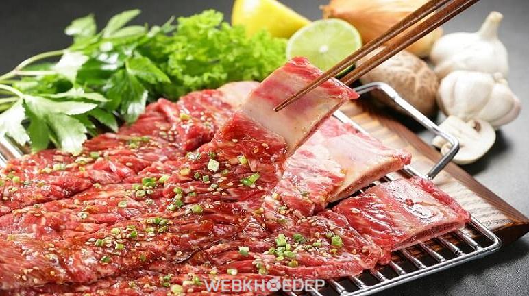 Ướp thịt nướng bằng bếp nướng điện