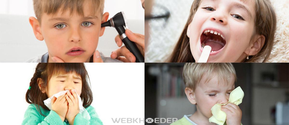 Bệnh tai mũi họng thường gặp ở trẻ em