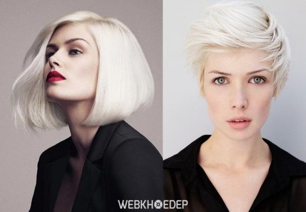 Cách chọn màu lông mày cho mái tóc trắng là màu xám hoặc xám tro