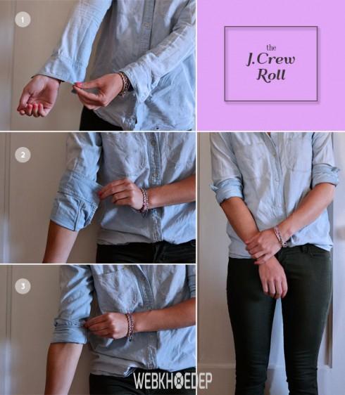 5 cách xắn tay áo cực chất phái nữ không thể bỏ qua - Hình 2