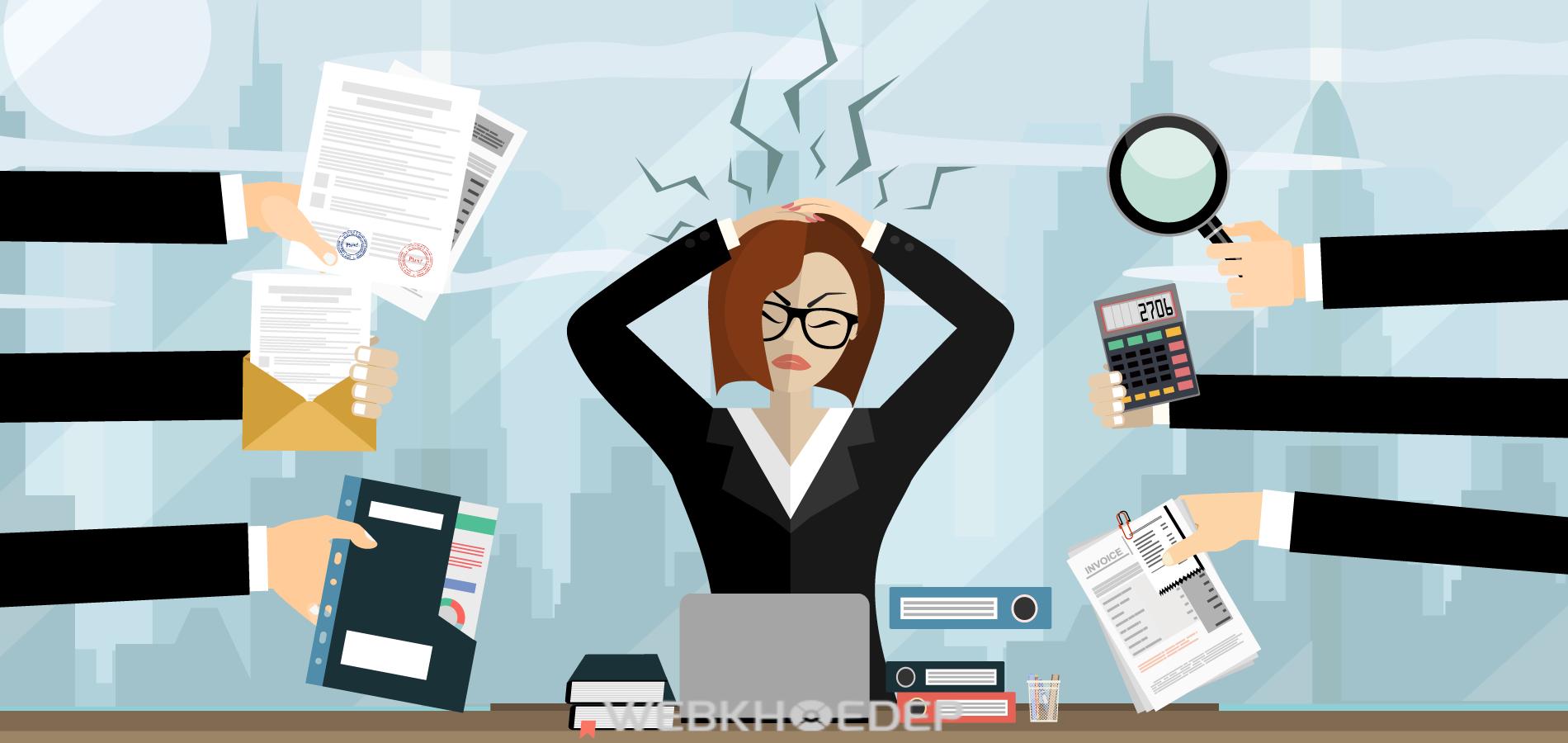 Stress làm giảm hiệu suất công việc