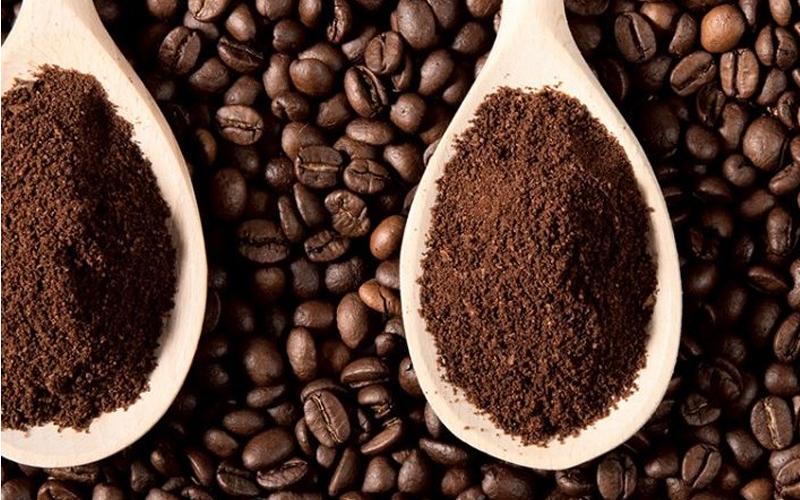 Xay hạt cà phê vừa phải