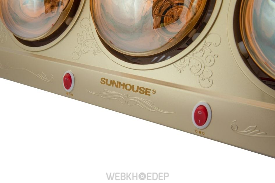 Đèn sưởi phòng tắm Sunhouse SHD3812 550W Vàng kim