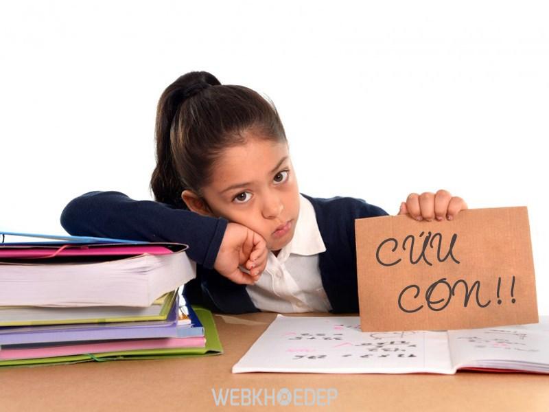 Áp lực học hành khiến con dễ dẫn đến căng thẳng, trầm cảm