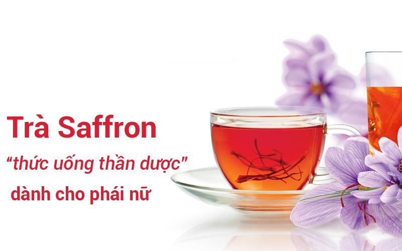 Bỏ vài nhụy hoa saffron vào nước như pha trà là uống ngay thật dễ.