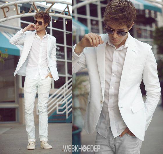 Cách phối đồ với quần jeans trắng cho phái mạnh - Hình 4