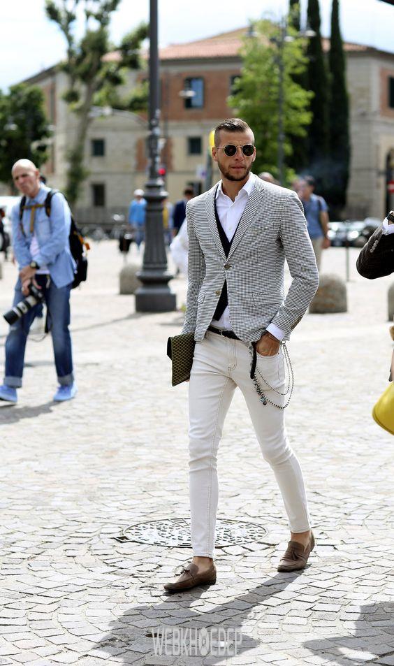 Cách phối đồ với quần jeans trắng cho phái mạnh - Hình 7
