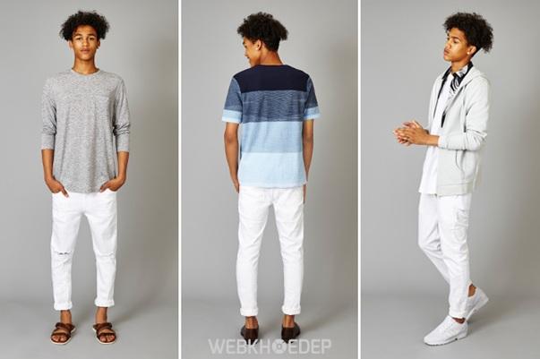 Cách phối đồ với quần jeans trắng cho phái mạnh - Hình 8
