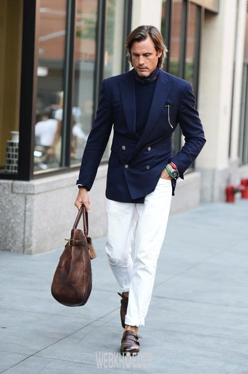 Cách phối đồ với quần jeans trắng cho phái mạnh - Hình 1
