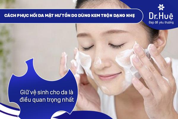 Giữ vệ sinh da thật sạch