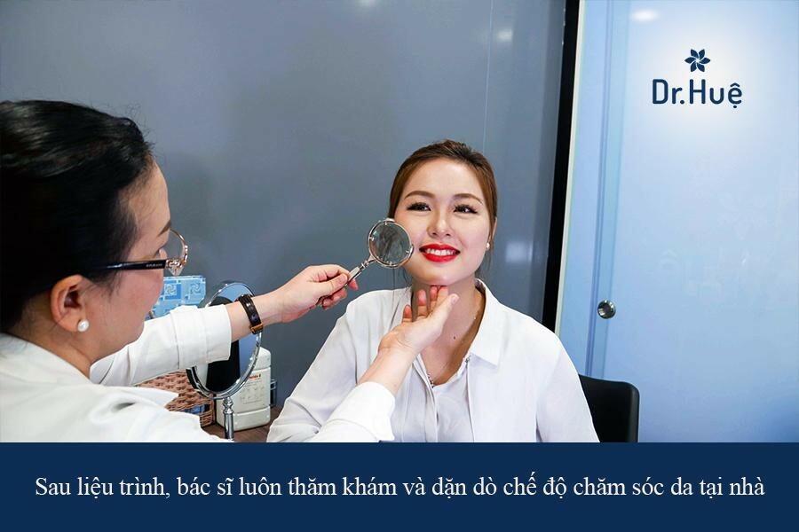 Dr. Huệ Clinic & Spa trung tâm trị mụn quanh miệng và cằm cho nữ giới an toàn hiệu quả