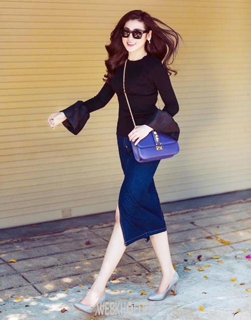 Chân váy xẻ tà dành cho cô nàng sành điệu và quyến rũ - Hình 2