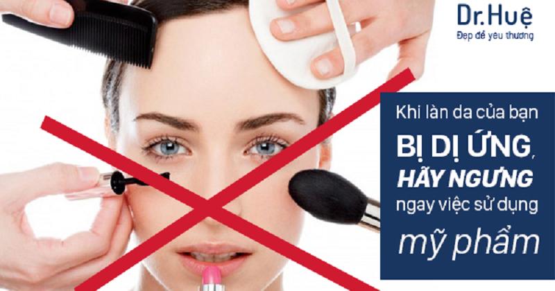 Da mặt bị dị ứng mỹ phẩm phải làm sao