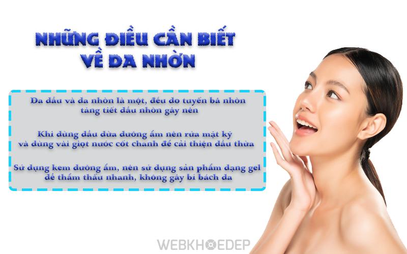 những điều cần biết về da nhờn