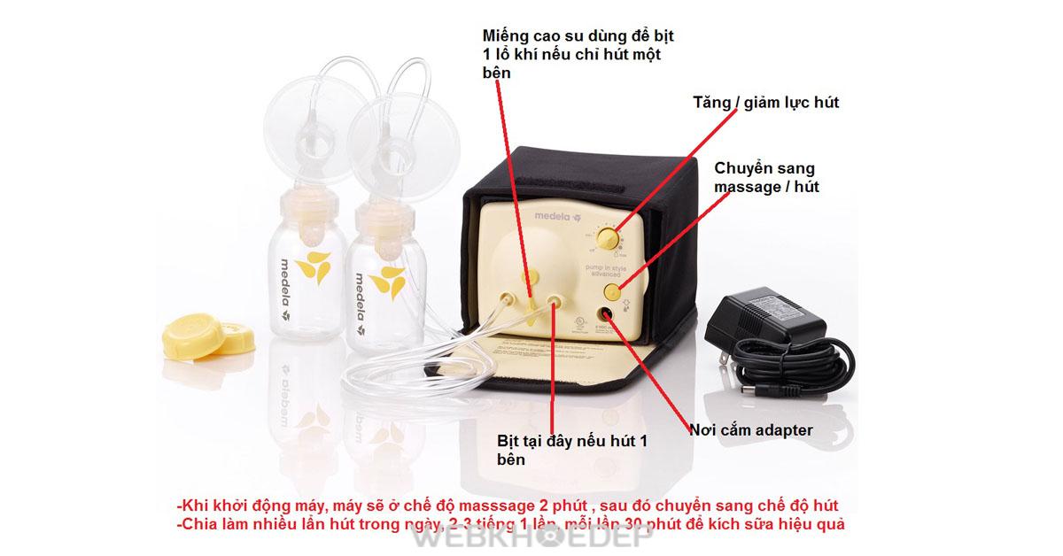 Cách sử dụng máy hút sữa Medela Swing