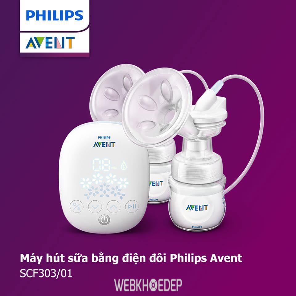 Máy hút sữa Philips Avent với thiết kế thông minh mang lại hiệu quả sử dụng cao