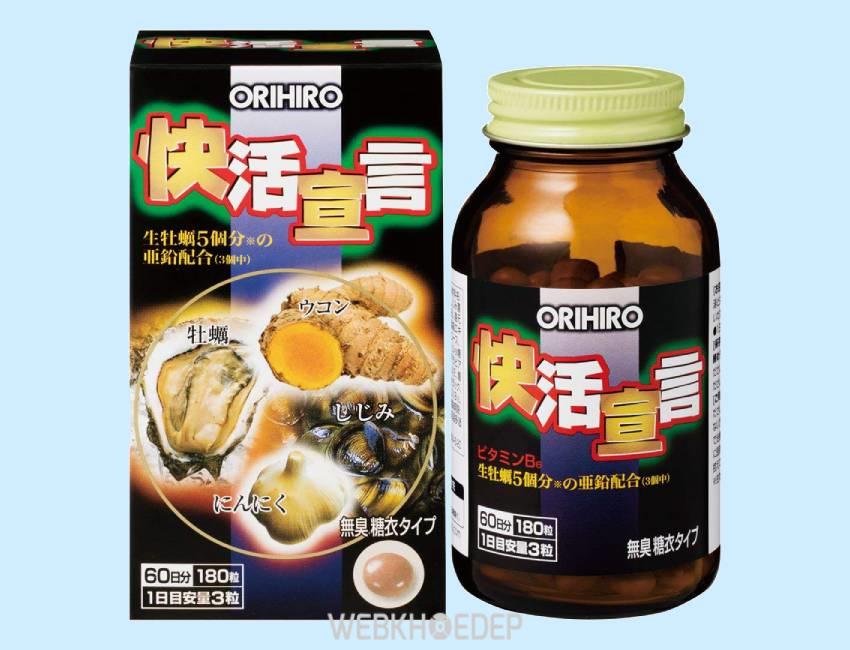 Tinh chất hàu nghệ Orihiro Nhật Bản với nguồn dinh dưỡng từ hàu và nghệ