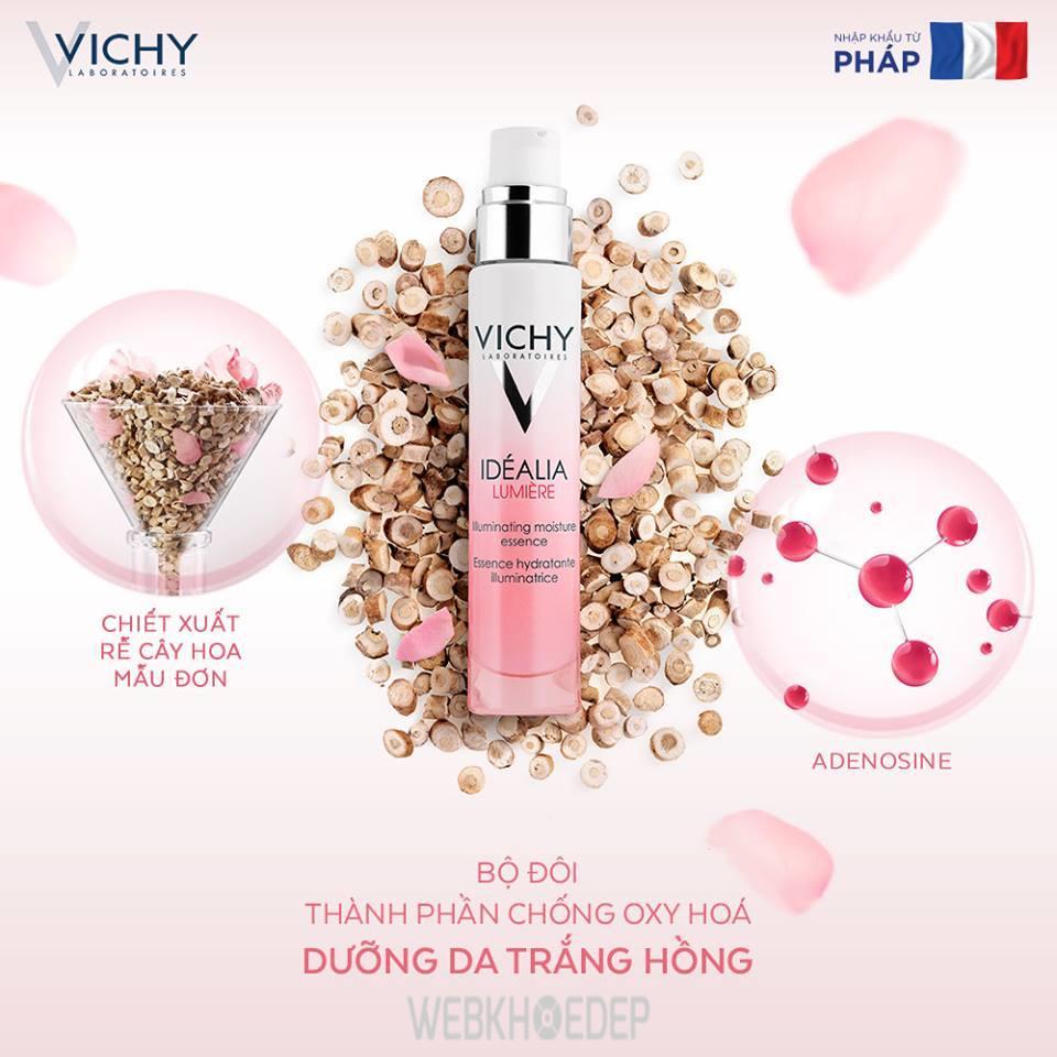 Tinh chất Vichy Idealia Lumiere Essence cho làn da trắng hồng, sáng mịn