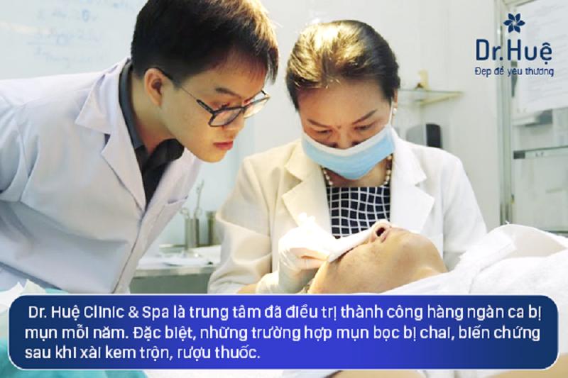 Dr. Huệ Clinic & Spa là trung tâm điều trị mụn có tiếng ở TPHCM