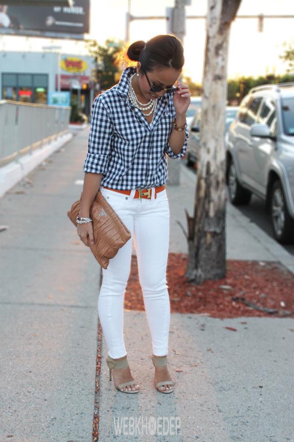 Mách nước cho bạn gái cách phối quần jeans trắng - Hình 2