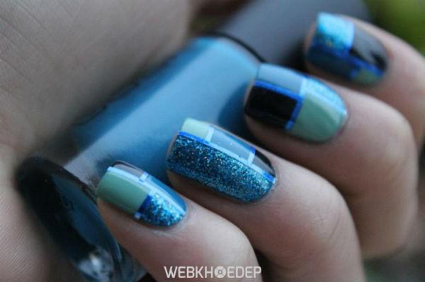 Màu xanh đậm ánh bạc như nước biển ban đêm