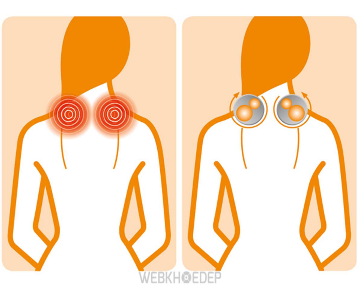 Con lăn tác động vào những vùng đau nhức giúp giảm đau hiệu quả
