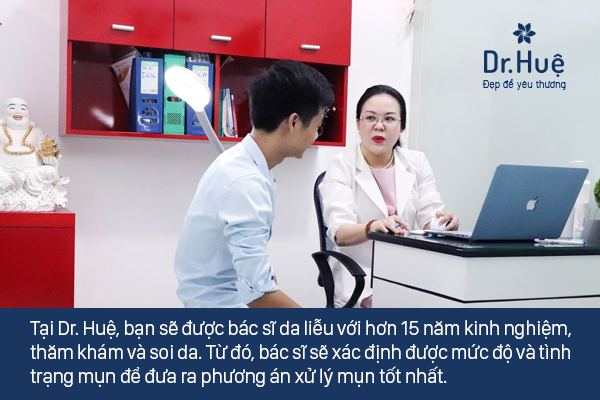 Dr.Huệ Clinic & Spa địa chỉ trị mụn bọc có mủ an toàn hiệu quả