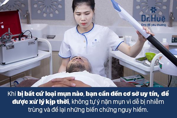 Đến Spa thẩm mỹ viện uy tín để thăm khám điều trị khi bị mụn đinh râu