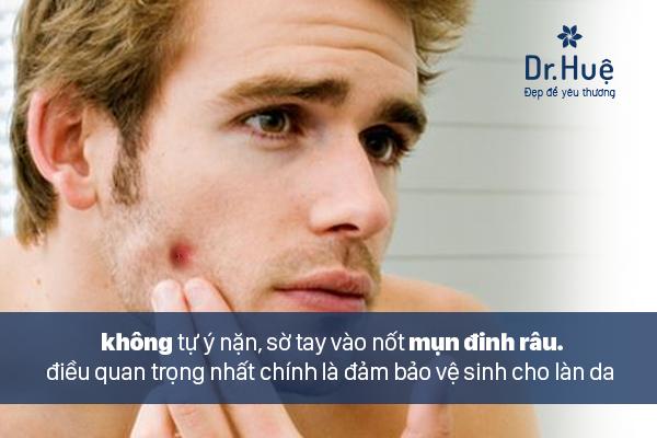 Giữ vệ sinh da để tránh mụn đinh râu mọc