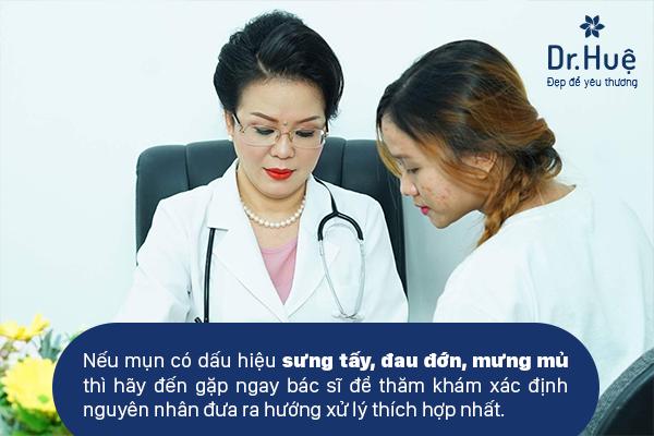 Dr. Huệ Clinic & Spa địa chỉ chữa trị mụn mọc quanh vành tai an toàn nhanh chóng
