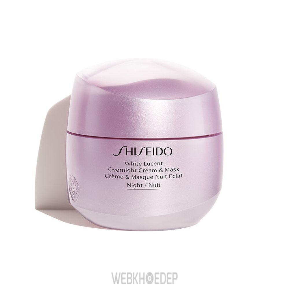 Kem dưỡng trắng da ban đêm Shiseido sẽ làm mờ vết thâm nám, sạm da và giúp bạn duy trì một làn da trắng hồng rạng rỡ