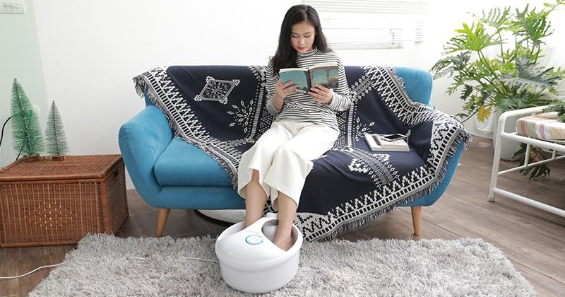 Review bồn ngâm chân và massage Rio FTBH 2EU nhập khẩu Anh 4 chức năng tự động