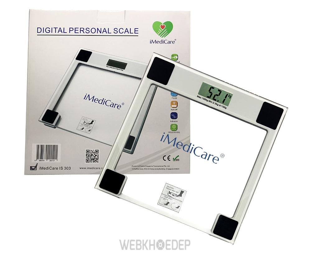 Review cân điện tử iMediCare IS-303 có thiết kế đẹp mắt, trang nhã và đẳng cấp