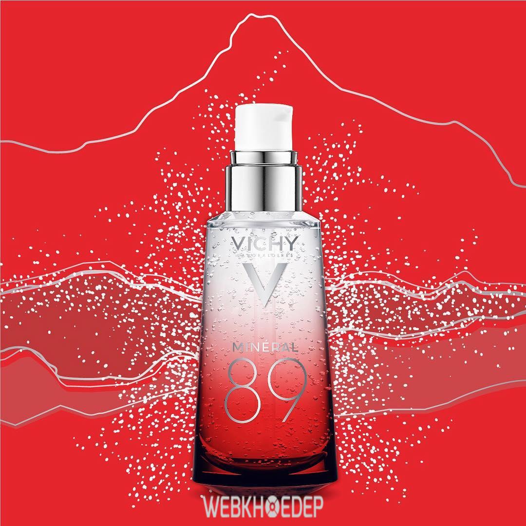 Serum Vichy 89 phiên bản Limited màu đỏ được thiết kế riêng dành cho thị trường châu Á