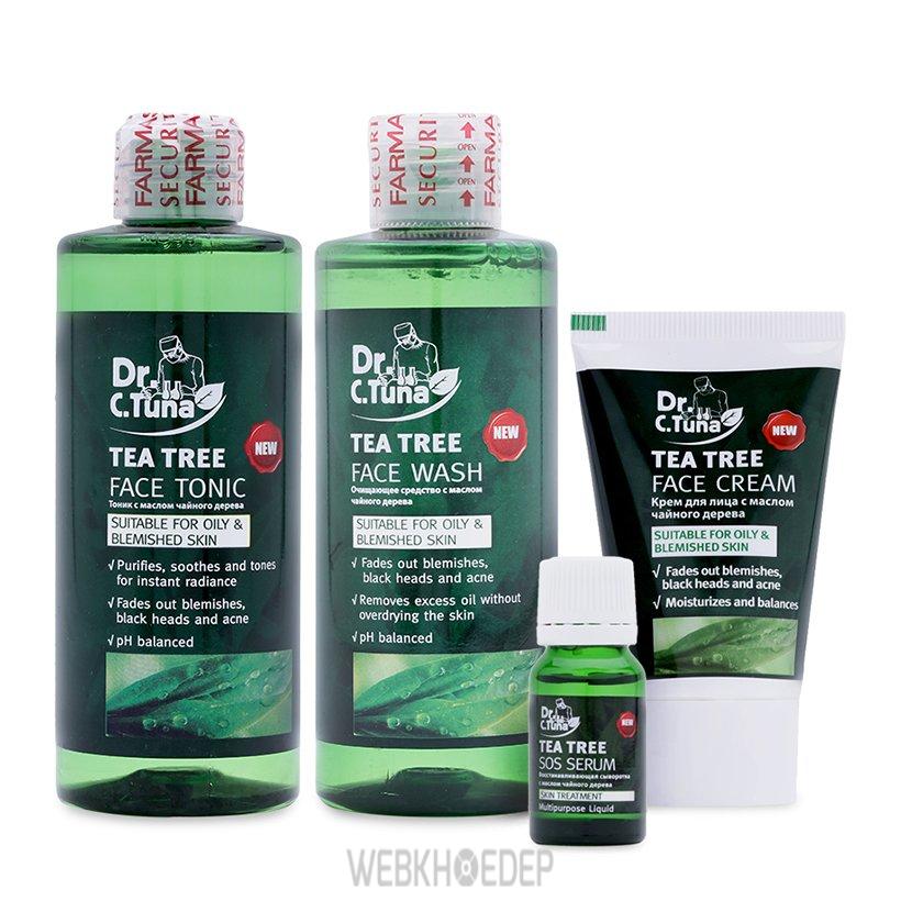 Tea Tree Farmasi - combo mỹ phẩm thích hợp cho làn da mụn và da dầu