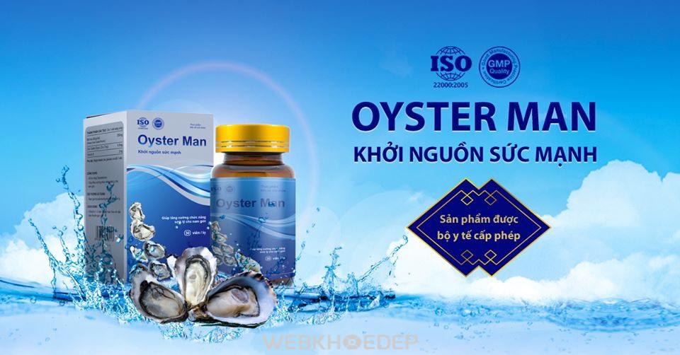 Viên uống Oyster Man giúp hỗ trợ cải thiện sinh lý phái mạnh hiệu quả