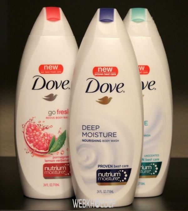 Sữa tắm Dove với nhiều tính năng