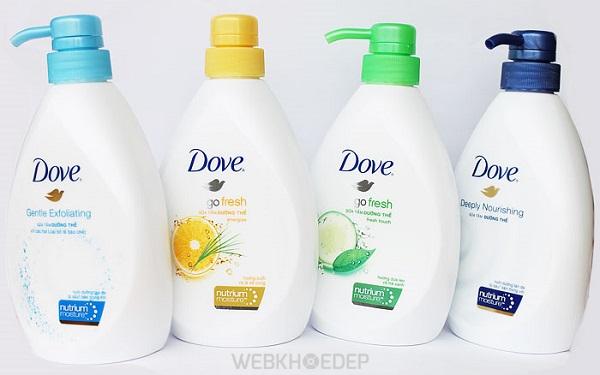 Các dòng sữa tắm Dove có tốt không?